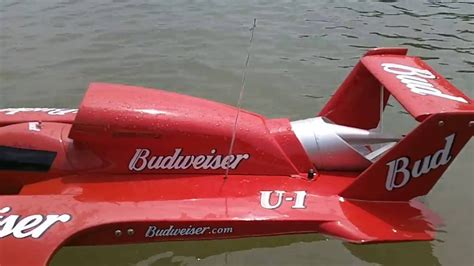 Rc Gas Powered Boats Youtube by 1 8 Scale Miss Budweiser Rc Gas Powered Boat Youtube