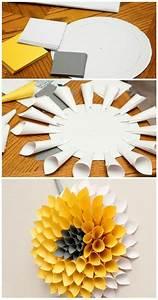 Frühlingsdeko Mit Kindern Basteln : wanddeko selber machen 68 tolle ideen f r ihr zuhause pap r pinterest papier basteln und ~ Markanthonyermac.com Haus und Dekorationen