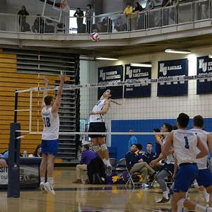 Men's volleyball competes on the road in February