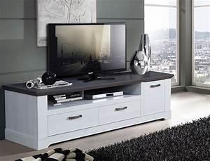 Tv Lowboard Grau : tv board gaston 26 weiss grau 185x54cm schneeeiche lowboard tv schrank wohnbereiche wohnzimmer ~ Markanthonyermac.com Haus und Dekorationen