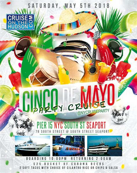 Party Boat Nyc Prices by Cinco De Mayo Party Dance Cruise Nyc Boat Party South