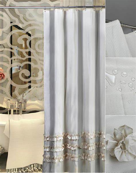 lace shower curtain with attached valance easy style
