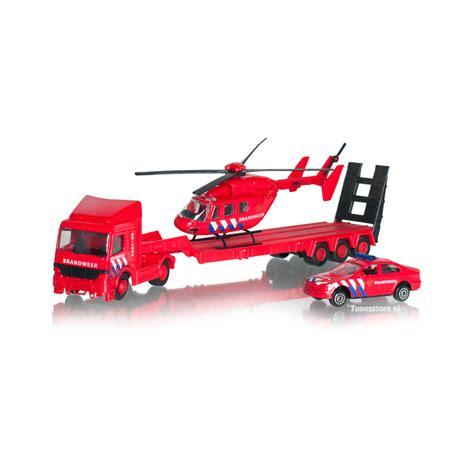 Speelgoed Helikopter by Brandweer Speelgoed Set Met Vrachtwagen Helikopter En Auto