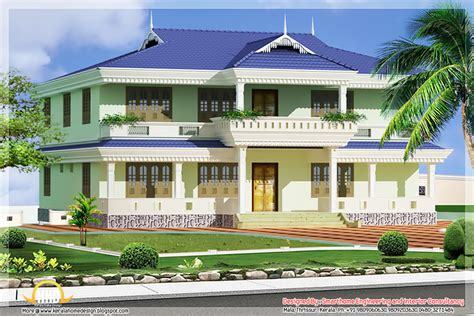 Kerala Style House Elevation  1976 Sqft  Kerala House
