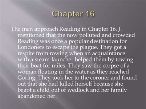 Three Men In A Boat Chapter 16 by Three Men In A Boat Ppt