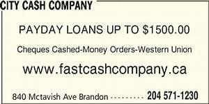 City Cash Company - Opening Hours - 840 McTavish Ave ...