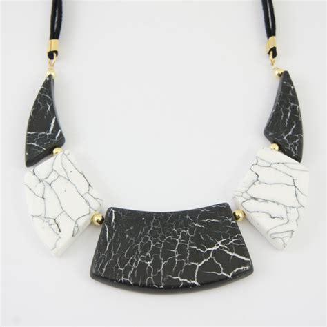 collier imitation marbre en p 226 te polym 232 re perles co