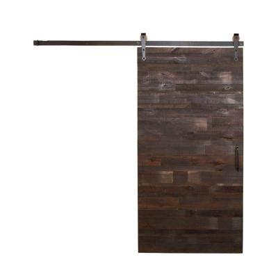 barn door home depot rustica hardware 42 in x 84 in reclaimed horizontal wood
