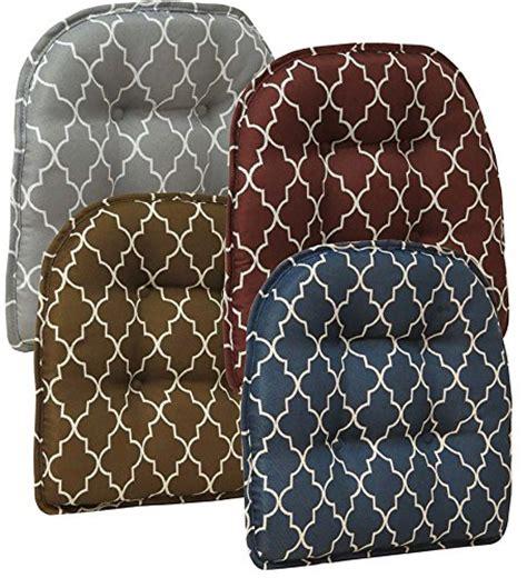 gripper nonslip trellis chair pad in gray chair cushion