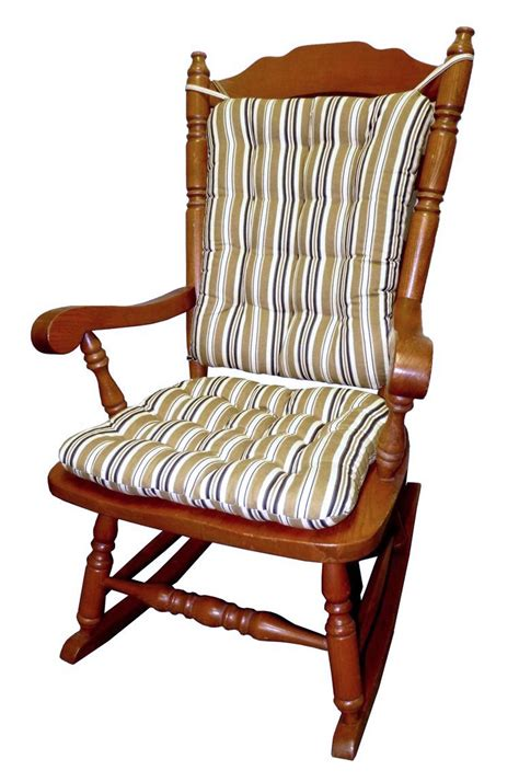 colton federal stripe black rocking chair cushion set
