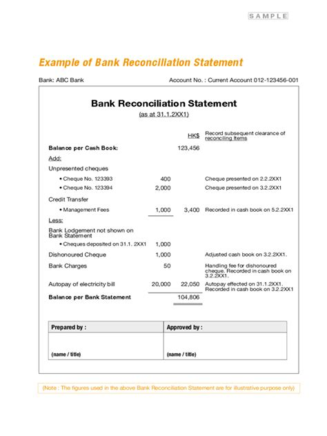 Trust Reconciliation Template by Bank Reconciliation Form 3 Free Templates In Pdf Word