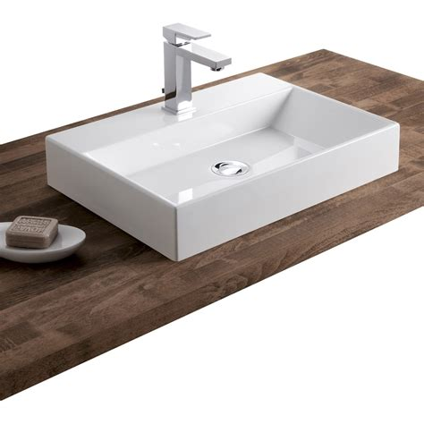 vasque 224 poser r 233 sine de synth 232 se l 50 x p 36 cm blanc leroy merlin