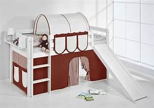 Vorhang über Bett : spielbett hochbett kinderbett kinder bett jelle mit rutsche 190x90 cm vorhang ebay ~ Markanthonyermac.com Haus und Dekorationen