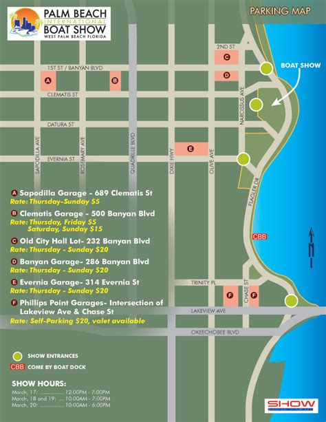 Palm Beach International Boat Show Map by Illustration And Illustrated Maps By Escape Key Graphics