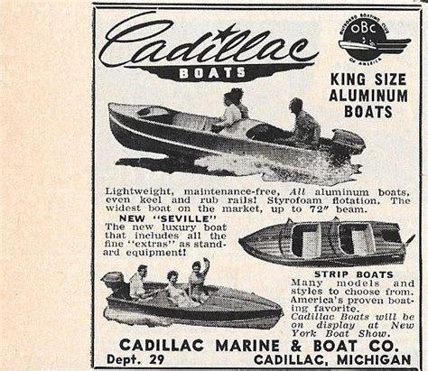 Old Boat Brands by Cadillac Boats