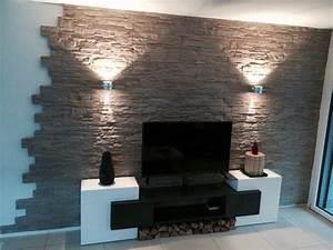 Tapete Hinter Kamin : die besten 25 wandgestaltung wohnzimmer ideen auf pinterest wohnzimmer tv tv wand im raum ~ Markanthonyermac.com Haus und Dekorationen