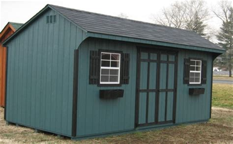 8x12 quaker wood shed kit
