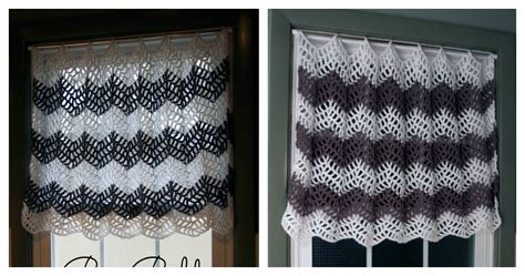 Big Bold Chevron Curtain Free Crochet Pattern For Your Windows Black Bamboo Beaded Curtains Simple Curtain Rods Clear Shower No Pvc Christmas Lace With Lights Energy Efficient And Blinds Thermal Liners Canada On Patio Doors Ideas Pelmet Box For Bay Window