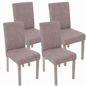 Stuhl Grau Eiche : 4x esszimmerstuhl littau stuhl lehnstuhl textil grau beine struktur eiche ~ Markanthonyermac.com Haus und Dekorationen