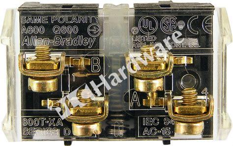 Plc Hardware  Allen Bradley 800txa Series D, Used In A Plch Packaging