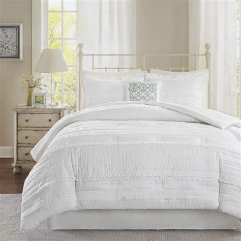 Madison Park Isabella White Comforter Set Ebay
