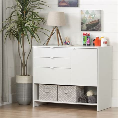 south shore crea white craft storage cabinet with drawers walmart ca