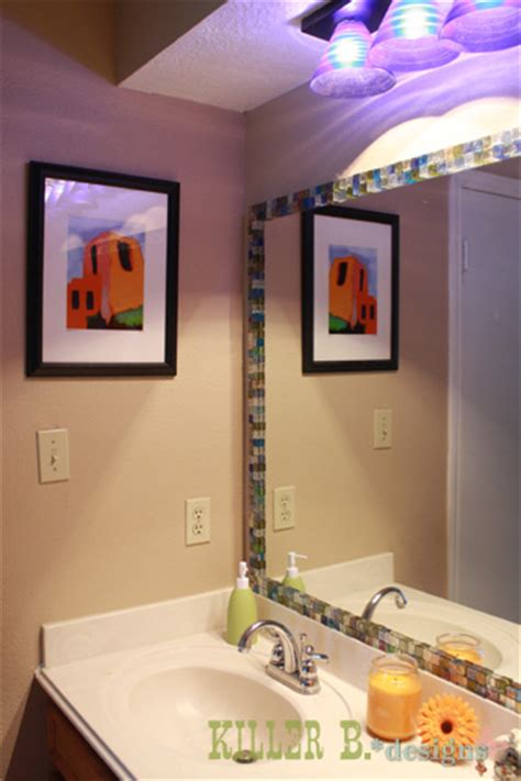hometalk mosaic tile framed mirror