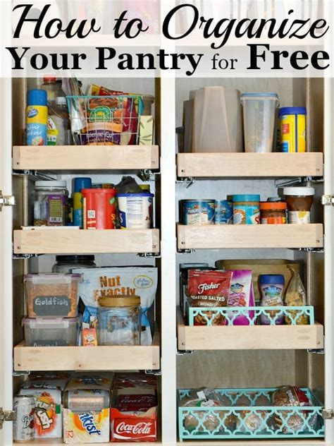 How To Organize The Pantry For Free  Ask Anna