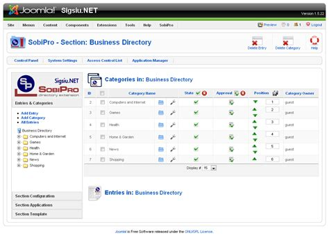 Sobipro Directory Component For Joomla Part 2