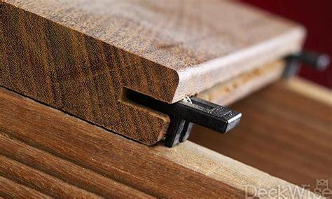 deck fasteners for wood ipe clip deck fastener edge mount deckwise