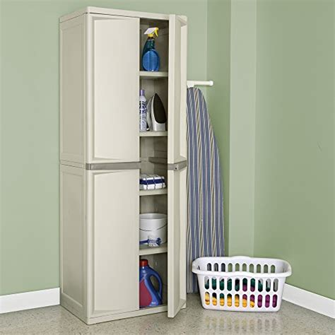 sterilite 01428501 4 shelf cabinet with putty handles platinum mannequinesforsale
