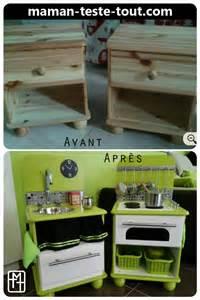 diy fabriquer une cuisine pour enfant avec deux tables
