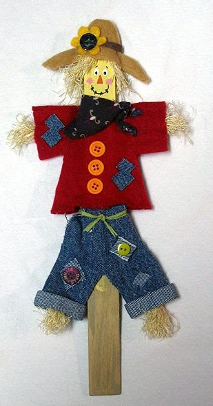 Paint Stick Scarecrow  Crafts By Amanda