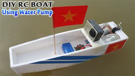How To Make A Homemade Putt Putt Boat by How To Make Rc Boat Using Water Pump Youtube