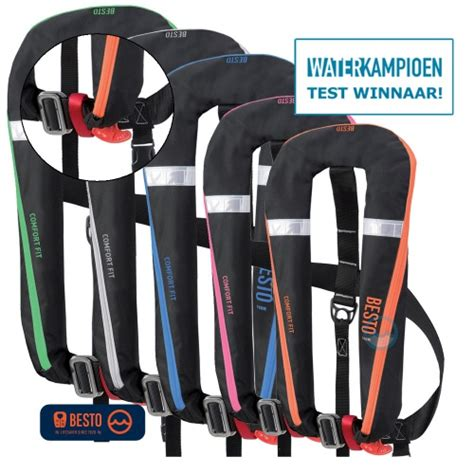 Anwb Zwemvest Test automatisch reddingsvest 165n besto comfortfit met harnas