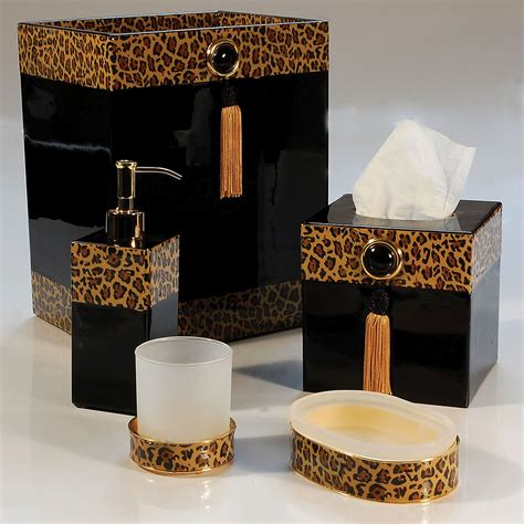 Leopard Print Bathroom Accessories by Leopard Bathroom Decor Bathroom Decorations Animal
