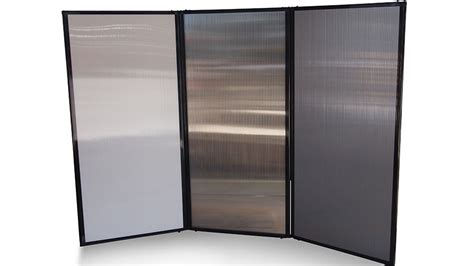 Freestanding Portable Privacy Screen (polycarbonate