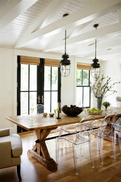 rustic dining table and its place in the rural dining room