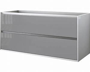 Waschtischunterschrank 120 Cm : waschtischunterschrank glas h he 55 breite 120 tiefe 46 cm weiss gl nzend kaufen bei ~ Markanthonyermac.com Haus und Dekorationen