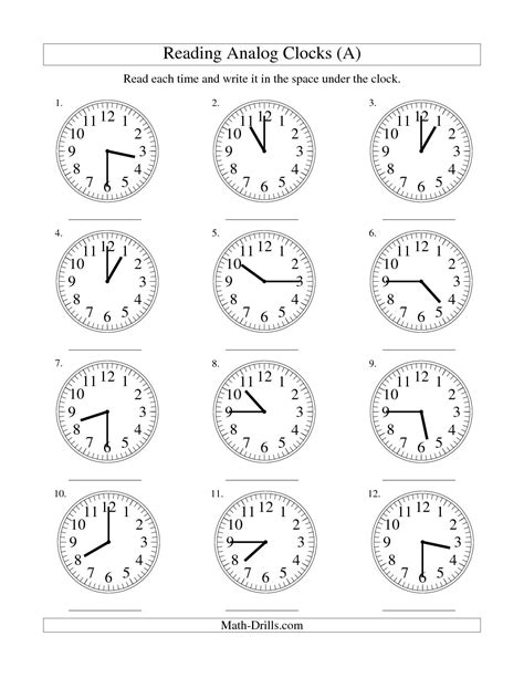 16 Best Images Of Worksheet Time To 15 Minutes  Reading Analog Clock Worksheets, Time
