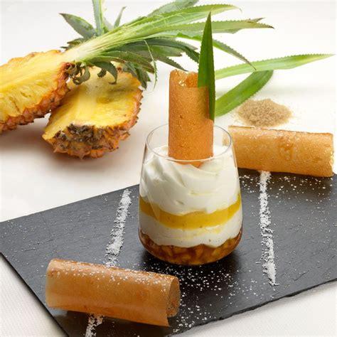blanc manger d ananas confit 233 mulsion noix de coco arts gastronomie