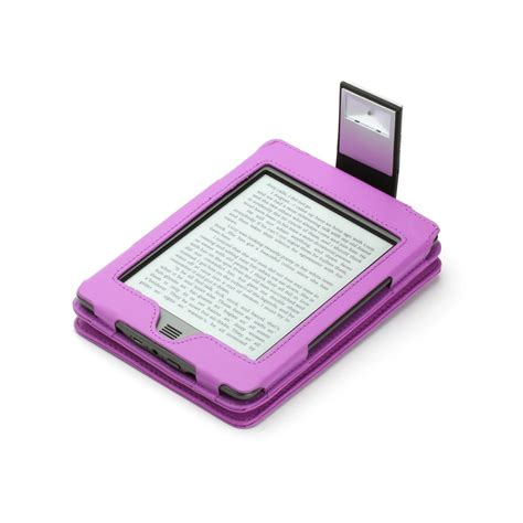 Kindle Touch Cover With Light by Purple Genuine Leather Case For Kindle Touch With Slim Led