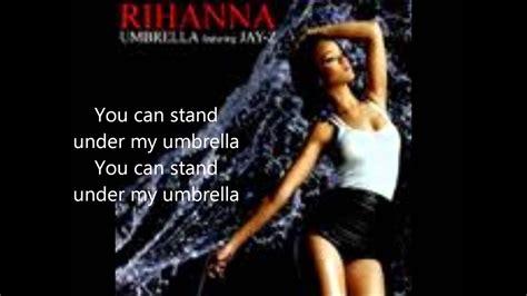 Rihanna Ft Jay Z- Umbrella Paroles Avec Les Photos Du Clip