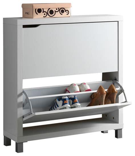 baxton studio simms white modern shoe cabinet modern shoe storage other metro by baxton