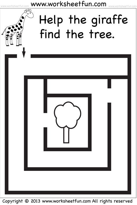 Beginner Mazes  Preschool And Kindergarten  6 Worksheets  Free Printable Worksheets