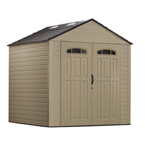 shop rubbermaid roughneck gable storage shed common 7 ft x 7 ft interior dimensions 6 75 ft