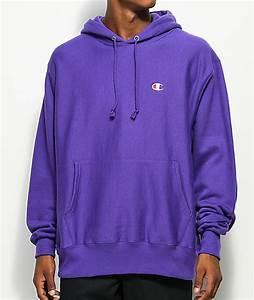 Champion Reverse Weave Purple Hoodie | Zumiez