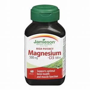 Buy Jamieson High Potency Magnesium + Vitamin D3 Caplets ...
