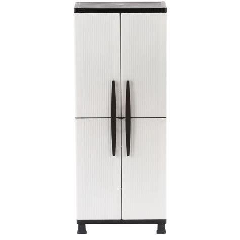 hdx 27 in w 4 shelf plastic multi purpose cabinet in gray shop your way shopping