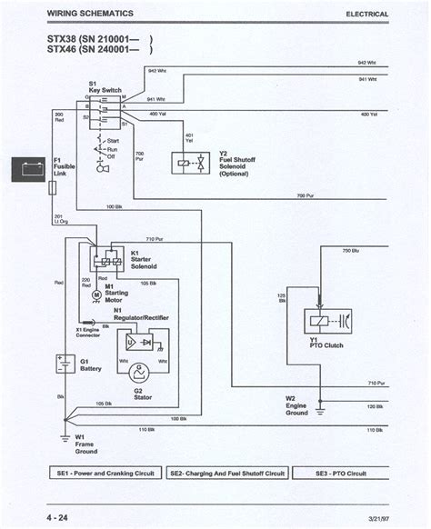 wiring diagram for deere stx38 wiring wiring